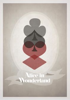 10 Alternate & Minimalistic Disney Movie Posters by Rowan Stocks Moore - Alice in Wonderland