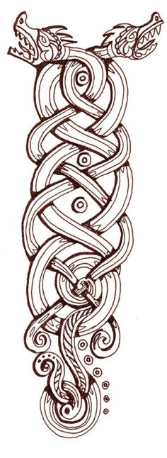 Viking Dragon Knot #dragon #tattoos #tattoo
