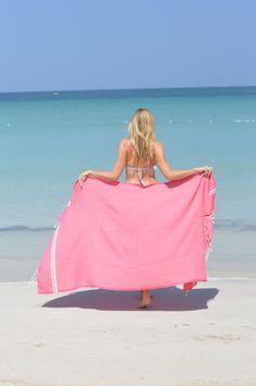 Fouta Sousse pink ZusenZomer