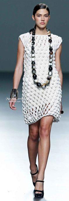 Merche Correa Spring 2014 - Great Triple Crocheted Dress