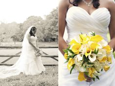 yellow and gray flowers for wedding bouquets | Real {Connecticut} Wedding: Jasmin + Steven - Munaluchi Bridal ...