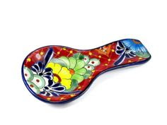 Talavera Pottery, Slab Pottery, Ceramic Spoons, Painted Plates, Other Countries, Mexican Art, Pottery Painting, Spoon Rest, Clay Art