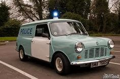 Mini Cooper Police Yup I remember them well Classic Mini, Classic Cars, British Police Cars, Cops And Robbers, Mini Copper, Police Life, Mini Countryman, Army Vehicles, Minis