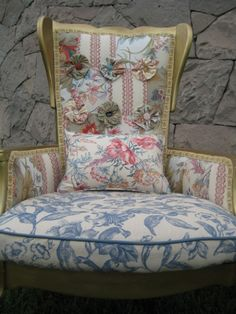 Louis XV Style Patchwork Chair