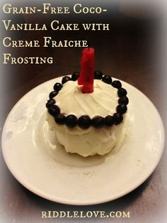 riddlelove: Grain-Free Coco-Vanilla Cake With Creme Fraiche Frosting ~ Joseph's First Birthday Cake