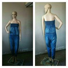 Sexy Fitted Denim Tube Romper. I am Available in Small Size @ (590 INR)  To Order: Call: 8454847845