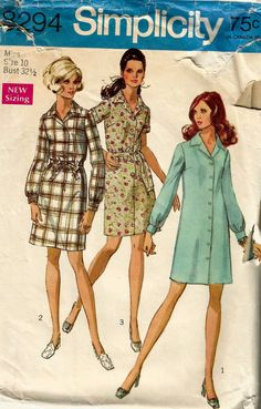 Vintage Woman's 1960's Dress Pattern Simplicity 8294 by bevs, $4.98