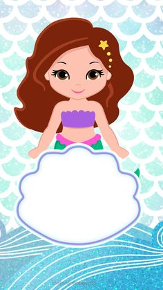 Convite Virtual para Celular Sereia Cute - Fazendo a Nossa Festa Mermaid Theme Birthday, Unicorn Birthday, Unicorn Party, Little Mermaid Parties, The Little Mermaid, Bird Party, Third Birthday, Birthday Balloons, Birthday Party Decorations