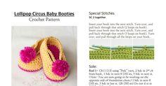 Lollipop Circus Baby Booties Crochet Pattern.pdf