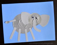Elephant Cupcake Liner Craft