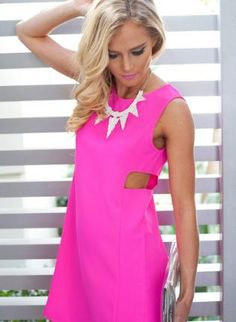 REVEL: Shocking Pink Party Dress - For ME to wear! | PINK party ...