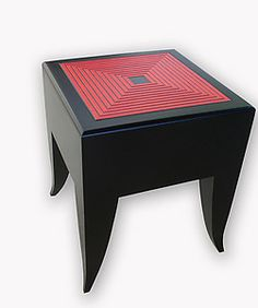 Maze Stool/Table: Kevin Irvin: Wood Side Table   Artful Home