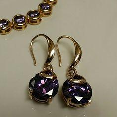 Earrings 18k rose gold plated CZ Diamond women hanging drop earrings jewelry gift day for women Jewelry Earrings