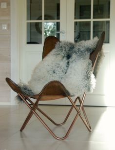 Tarja's Snowland: butterfly chair, butterfly chair leather, butterfly chair leather cover, leather butterfly chair