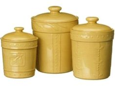 #Wheat Set of 3 Sorrento Canisters by Signature Housewares at Cooking.com