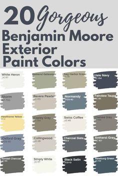 Benjamin Moore Exterior Paint, Exterior Gray Paint, Exterior Paint Schemes, Exterior Paint Colors For House, Paint Colors For Home, Exterior Colors, Exterior Paint Color Combinations, Paint For House, Paint Colours
