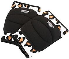 Tachikara TK-LEOPARD Volleyball Beginner Knee Pads feature quality cotton sleeves with leopard-themed animal print. These knee pads are for recreational use and have segmented foam padding. Volleyball Knee Pads, Volleyball Gear, Volleyball Outfits, Volleyball Equipment, Michaela, Athlete, Sporty, Gymnastics Accessories, Eye Patches
