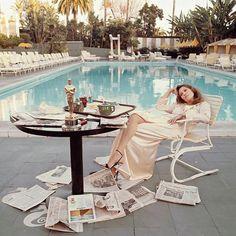 Faye Dunaway el día después de ganar el Óscar a la mejor actriz