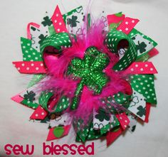 St. Patricks Day Hair Bow  www.facebook.com/sew.blessed