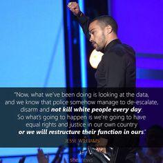 Great speech by Jesse Williams