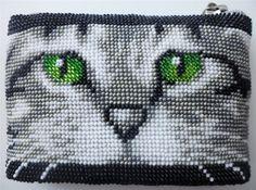 "Косметичка ""Котенок серенький"" | biser.info - всё о бисере и бисерном творчестве"