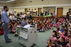 """Children's book author Chris Barton continues his tour around Hays CISD elementary campuses with a recent stop at Buda Elementary School."""