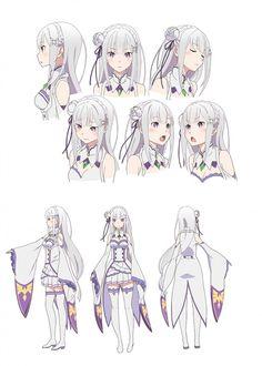 エミリアのキャラクター設定画
