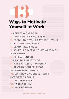 Lacking motivation at work? We hear you. Here are 13 ways to reinvigorate your work life. Lacking motivation at work? We hear you. Here are 13 ways to reinvigorate your work life. Work Goals, Career Goals, Career Advice, Career Planning, Life Goals, Career Ideas, Job Career, Career Change, Personal Development