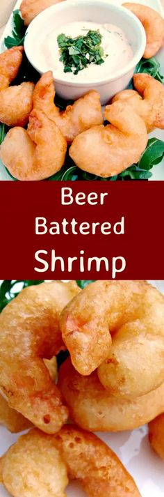 Crispy Beer Battered Shrimp. Oh boy.. these are delicious! Light and crispy batter, don't forget the dip and be sure to make plenty cos once you start eating these you won't be able to stop!