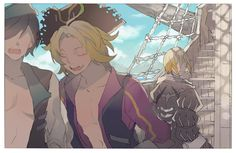 Eizen & Airfred's Crew (Tales of Berseria) Tales Of Zestiria Mikleo, Saga, Tales Of Berseria, Don't Fear The Reaper, Tales Series, The Exorcist, Geek Culture, Anime Style, Interesting Stuff