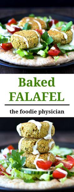 Healthy Baked Falafe