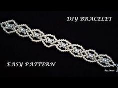 Diy Bracelets Easy Beads Necklaces 31 Ideas For 2019 Diy Bracelets Easy, Handmade Bracelets, Beaded Bracelets, Beaded Jewelry Patterns, Bracelet Patterns, Beading Patterns, Loom Patterns, Beading Tutorials, Seed Bead Tutorials