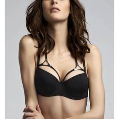 Marlies Dekkers 16290 Triangle Padded Balcony Bra featuring polyvore women's fashion clothing intimates bras strappy bra triangle bras underwire shelf bra balcony bra underwire bra