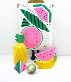 Giant Tropical Fruit Printables!