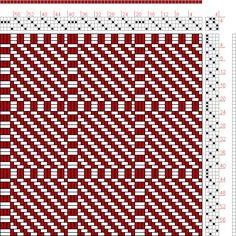 Hand Weaving Draft: Figure 1616, A Handbook of Weaves by G. H. Oelsner, 4S, 4T - Handweaving.net Hand Weaving and Draft Archive