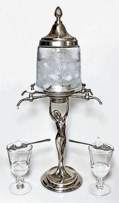 Absinthe Fountain, while drunk by people in the mid-1800's, did not really catch on until post Civil War.  Was more popular in Europe.