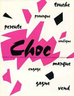 Roger Excoffon typographie Choc, 1955