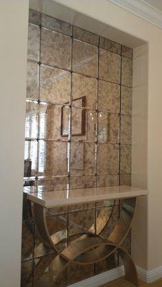 Mirror Tiles For Walls veranda lunar light quartz and mirror tile - arabesque tile - shop