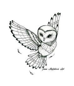Drawing by Majli Art, Slovakei, markers, owl Owl Tattoo Drawings, Bird Drawings, Animal Drawings, Owl Tattoo Small, Small Tattoos, Simple Owl Tattoo, Animal Tattoos, Baby Owl Tattoos, Bird Tattoos