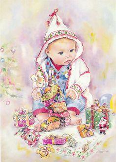 ❤️️️Artist Christine Haworth ~ Baby's First CHRISTmas