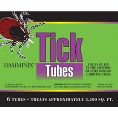 Damminix 27213 Tick Tube, 6-Pack by Ecohealth. $22.99. Collect the permethrin treated material to line nests, the deer ticks on the mice die. One box of 6 covers 1/8 acre of land. You can place biodegradable damminix tick tubes around your property in the spring and fall. Tick tubes deliver tick-controlling permethrin. Permethrin, a synthetic pyrethroid is based on a natural compound extracted from chrysanthemum. This tick tubes deliver tick-controlling permethrin. Permethr...