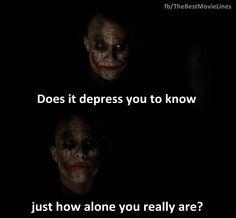 - Heath Ledger as Joker in The Dark Knight (2008)  Dir. Christopher Nolan