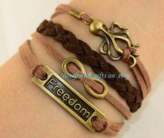 Freedom octopus infinity braceletoctopus by Bestfriendgiftshop, $4.99