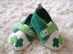 St Patricks Day Baby Loafers