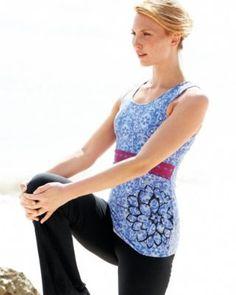 zinni™ by Garnet Hill Twist-Back Yoga Tank