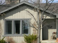 two-third one-third vertical panel Vinyl Siding Prices, Vinyl Siding Styles, Exterior Paint Schemes, Exterior Siding, Cottage Exterior, Exterior House Colors, Vertical Vinyl Siding, Cedar Shake Siding, Siding Colors