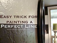 I wish I knew this when painting my house!  Easy trick for painting a perfect line...
