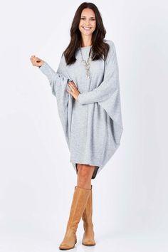 boho bird Floating On Clouds Dress - Womens Knee Length Dresses at Birdsnest Fashion