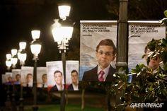 La campaña de los niños políticos de Greenpeace llega este sábado a 24 ciudades