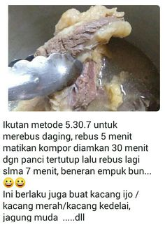 Tip rebus daging cukup 15 menit. Healthy Cooking, Cooking Recipes, Happy Kitchen, Indonesian Food, Creative Food, No Cook Meals, Food Dishes, Food Hacks, Food Videos